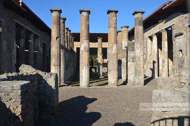 Reisefotografie aus der historischen Stadt Pompeij in Italien