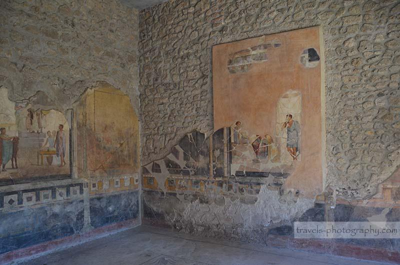 Antike Wandbemalungen - Reisefotografie aus der historischen Stadt Pompeij in Italien - Travel Photography