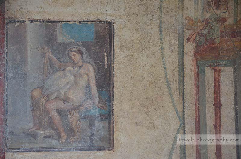 Antike Wandbemalung - Reisefotografie aus der historischen Stadt Pompeij in Italien - Travel Photography